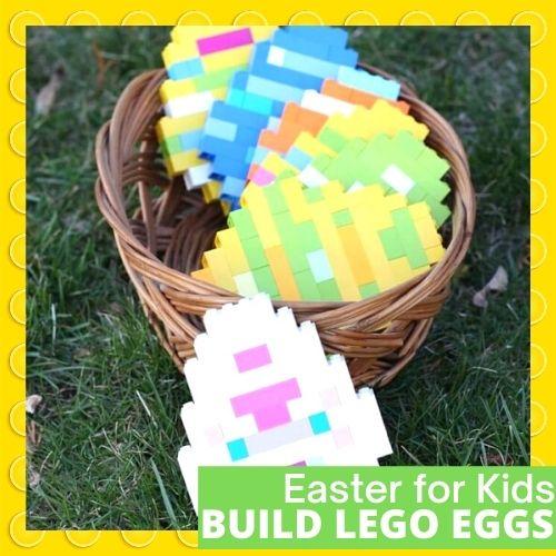 LEGO Easter Eggs - Little Bins and Bricks